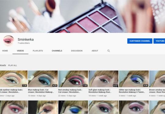 Šminkerka Youtube kanal
