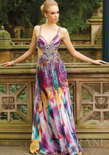 Exotic-Long-Prom-Dress-With-Animal-Print-by-Terani