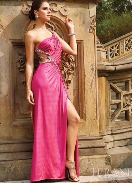 Sexy-Pink-One-Shoulder-Prom-Dress-by-Terani