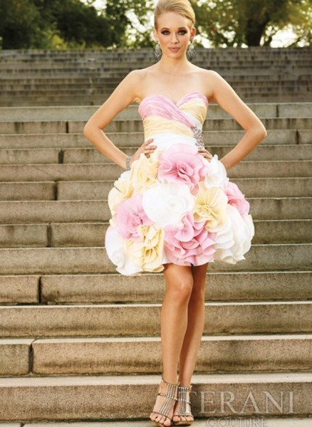 Short-Strapless-Pink-Prom-Gown-by-Terani
