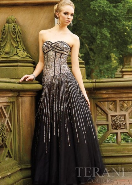 Strapless-Long-Black-Sequin-Prom-Dress-by-Terani