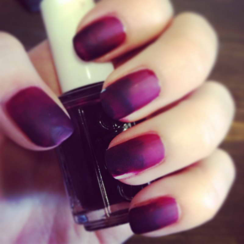 Ombre-Nails-Tutorial-With-Dark-Purple-Color