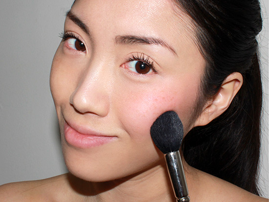 buffing-out-cream-blush-on-the-cheeks